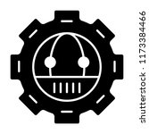 gear with robot solid icon.... | Shutterstock .eps vector #1173384466