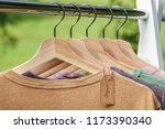 organic clothes. natural... | Shutterstock . vector #1173390340