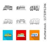 vector design of train and... | Shutterstock .eps vector #1173391246