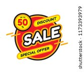 sale discount up to 50   ... | Shutterstock .eps vector #1173393979