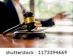 judge gavel with justice... | Shutterstock . vector #1173394669