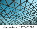 transparent glass ceiling on... | Shutterstock . vector #1173401680
