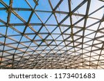 contemporary glass roof | Shutterstock . vector #1173401683