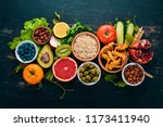 healthy food clean eating...   Shutterstock . vector #1173411940