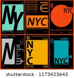 nyc   new york district   stock ... | Shutterstock .eps vector #1173423643