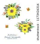 autumn flower bouquets of... | Shutterstock . vector #1173426316