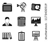 dedicated computer icons set.... | Shutterstock . vector #1173430519