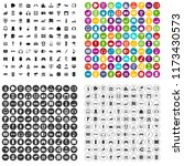 100 device icons set in 4... | Shutterstock . vector #1173430573