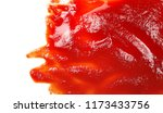 red ketchup splashes isolated...   Shutterstock . vector #1173433756