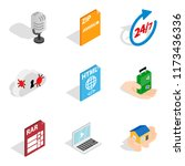 computer expert icons set....