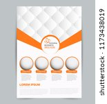 flyer template. design for a... | Shutterstock .eps vector #1173438019
