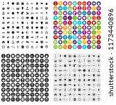 100 clock icons set in 4... | Shutterstock . vector #1173440896