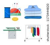 vector illustration of laundry... | Shutterstock .eps vector #1173444820