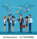 business coworkers cartoons | Shutterstock .eps vector #1173444886