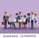 business coworkers cartoons | Shutterstock .eps vector #1173445570