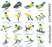 winter sport ski snowboard... | Shutterstock . vector #1173449053