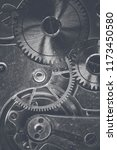 gears and mechanism of an old... | Shutterstock . vector #1173450580