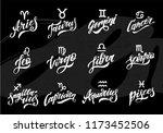 horoscope set lettering... | Shutterstock .eps vector #1173452506