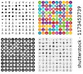 100 career icons set in 4... | Shutterstock . vector #1173453739