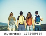 group of people  girls and... | Shutterstock . vector #1173459589