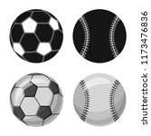 isolated object of sport and... | Shutterstock .eps vector #1173476836