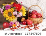 Colorful Autumn Still Life With ...