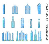 multi storey skyscrapers  a... | Shutterstock .eps vector #1173481960
