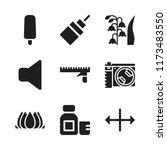 macro icon. 9 macro vector... | Shutterstock .eps vector #1173483550