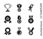 trophy icon. 9 trophy vector... | Shutterstock .eps vector #1173485209
