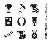 award icon. 9 award vector...   Shutterstock .eps vector #1173487819