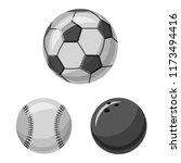 vector design of sport and ball ... | Shutterstock .eps vector #1173494416