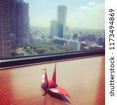 paper crane in tokyo    Shutterstock . vector #1173494869