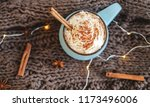 mug of coffee  cocoa or hot... | Shutterstock . vector #1173496006