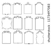 set of vector vintage frames on ... | Shutterstock .eps vector #1173497083