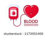 donate blood concept with blood ... | Shutterstock .eps vector #1173501400
