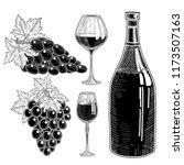 wine collection  set of wine... | Shutterstock .eps vector #1173507163