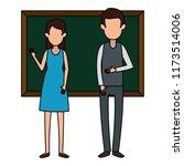 teachers couple teaching with... | Shutterstock .eps vector #1173514006