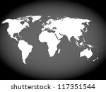 very high detailed map of the... | Shutterstock . vector #117351544