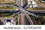 aerial drone photo of urban... | Shutterstock . vector #1173526420