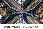 aerial drone photo of urban... | Shutterstock . vector #1173526423