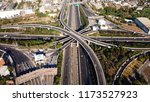 aerial drone photo of urban... | Shutterstock . vector #1173527923