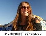 beautiful woman portrait in... | Shutterstock . vector #117352930