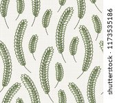 embroidery floral seamless... | Shutterstock .eps vector #1173535186