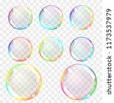 soap bubble. set of... | Shutterstock .eps vector #1173537979