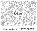 hand drawn set of school...   Shutterstock .eps vector #1173538876