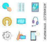 radioelectronic icons set....