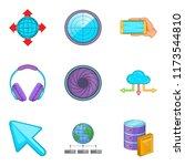 web invitation icons set....