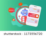 chatbot advisor vector... | Shutterstock .eps vector #1173556720