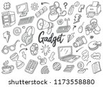 hand drawn set of gadget... | Shutterstock .eps vector #1173558880
