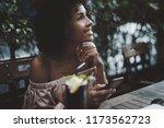 portrait of dazzling african... | Shutterstock . vector #1173562723